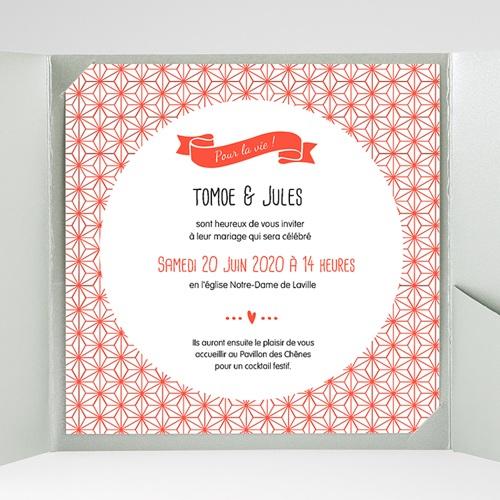 Faire-Part Mariage Pochette carré - Origami 38171 thumb