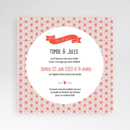 Faire-Part Mariage Pochette carré - Origami 38172 thumb