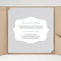 Faire-Part Mariage Pochette carré - Rayures noires 38185 thumb