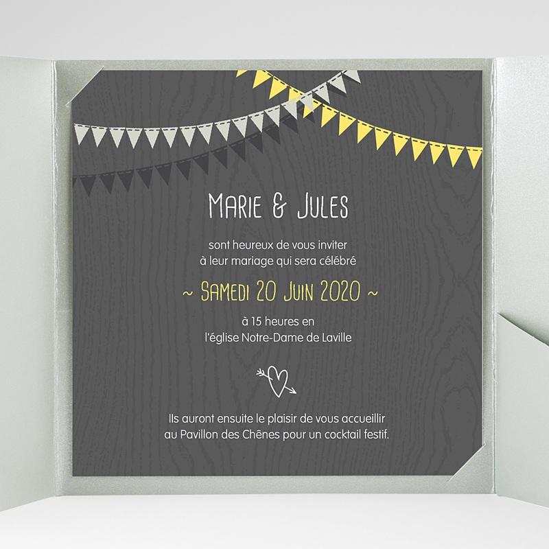 Faire-Part Mariage Pochette carré Soir d'Eté gratuit