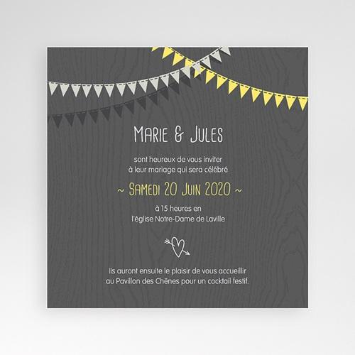Faire-Part Mariage Pochette carré - Soir d'Eté 38200 preview
