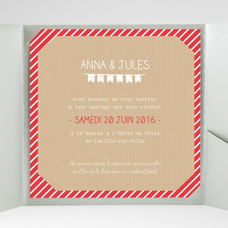 Faire-Part Mariage Pochette carré Pop Corn gratuit