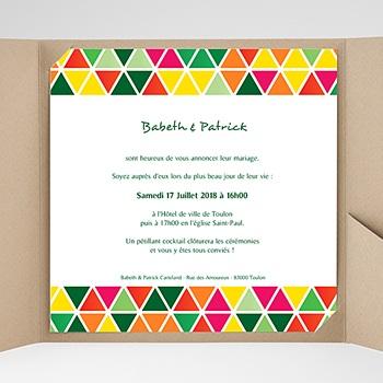 Faire-Part Mariage Pochette carré - Tropical - 0