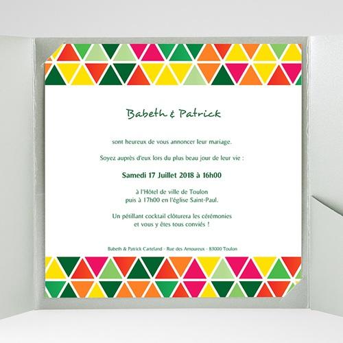 Faire-Part Mariage Pochette carré Tropical gratuit