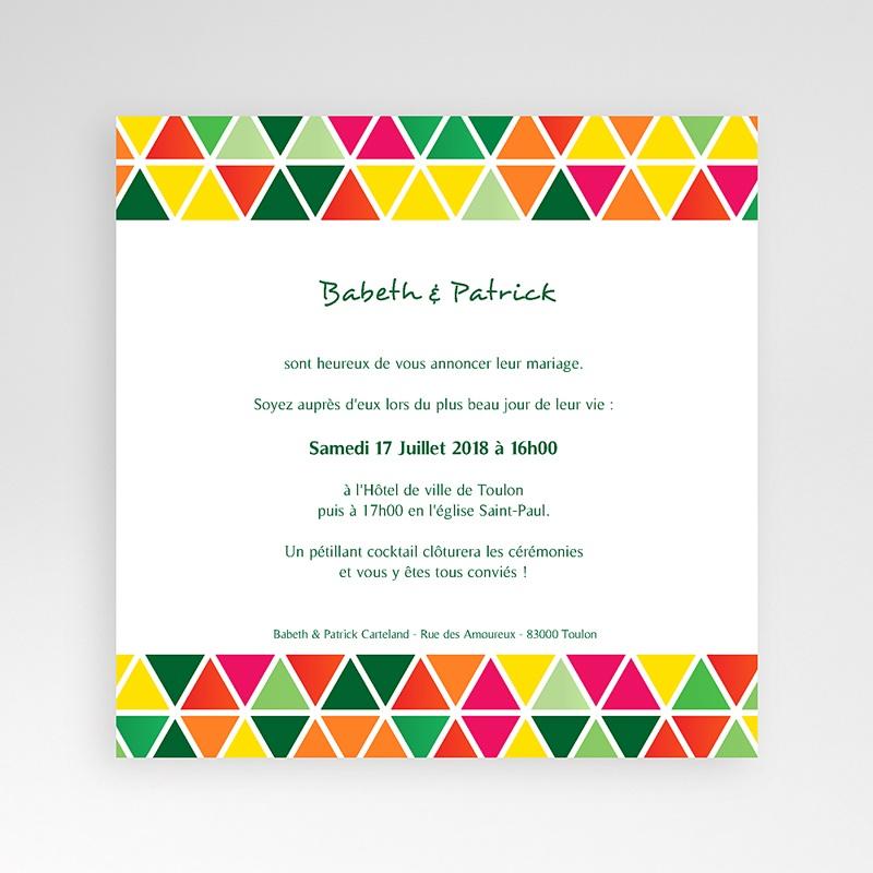 Faire-Part Mariage Pochette carré Tropical