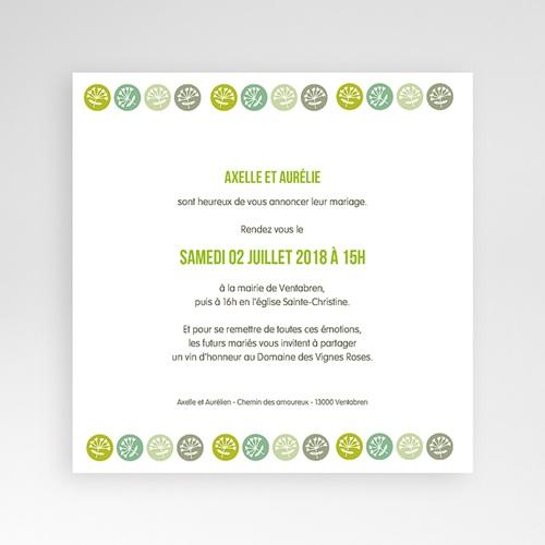 Faire-Part Mariage Pochette carré - Fleurs Champêtres 38404 thumb