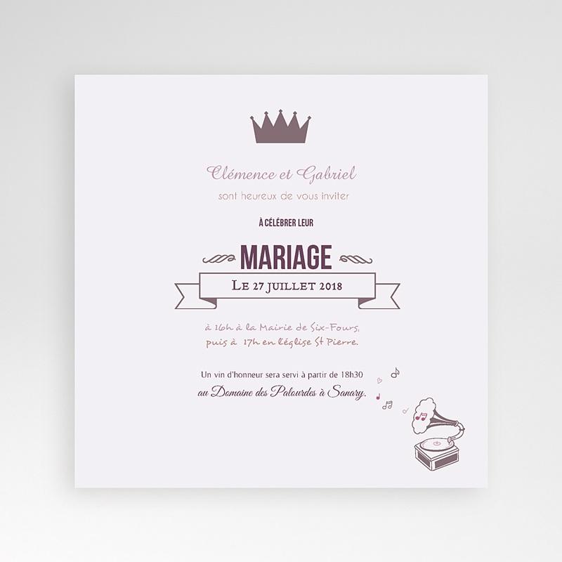 Faire-Part Mariage Pochette carré - Douce musique 38440 thumb