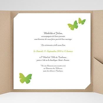 Faire-Part Mariage Pochette carré - Papillon Pop - 0