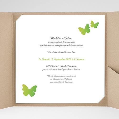 Faire-Part Mariage Pochette carré - Papillons Pop de couleur 38465 thumb