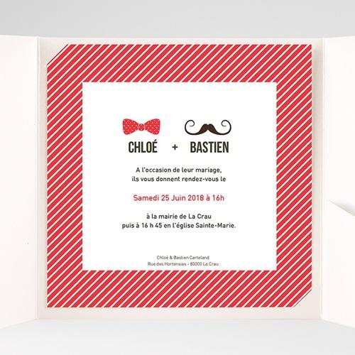 Faire-Part Mariage Pochette carré - M'sieur Dame 38494 preview