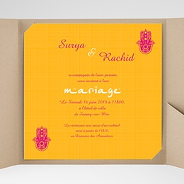 Faire-Part Mariage Pochette carré - Jaipur - 0