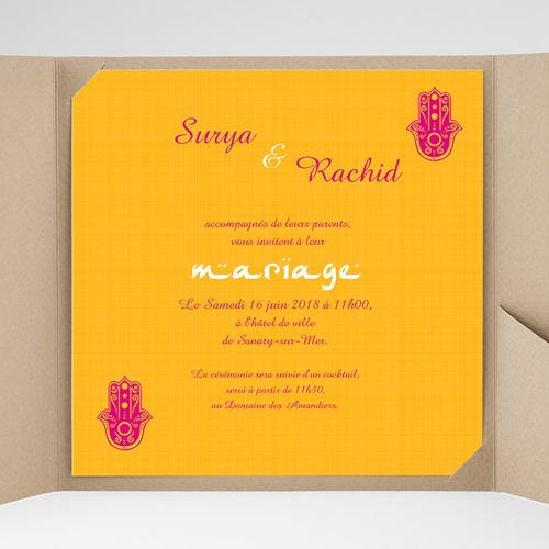 Faire-Part Mariage Pochette carré - Jaipur 38509 preview