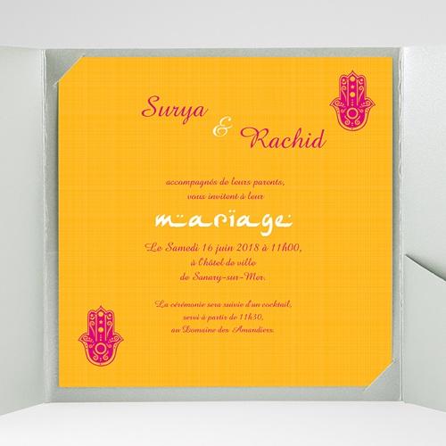 Faire-Part Mariage Pochette carré - Jaipur 38511 preview