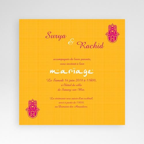 Faire-Part Mariage Pochette carré - Jaipur 38512 preview