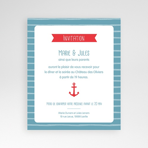 Carte d'invitation Vent Marin