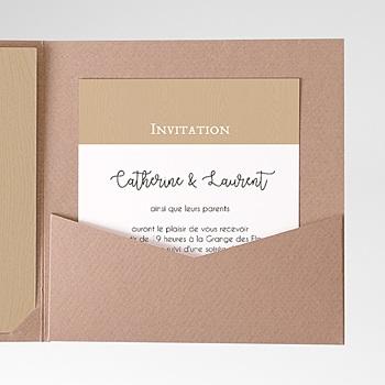 Carte d'invitation esprit champêtre pas cher