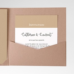 Carte d'invitation Esprit champêtre