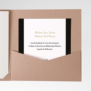 Carte d'invitation Tandem personnalisable