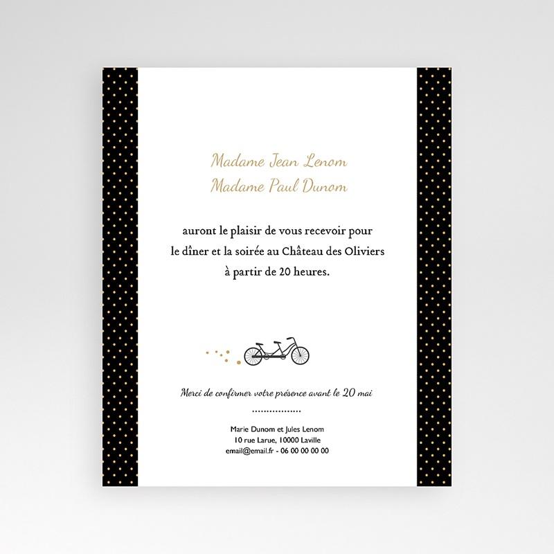 Carte d'invitation Tandem