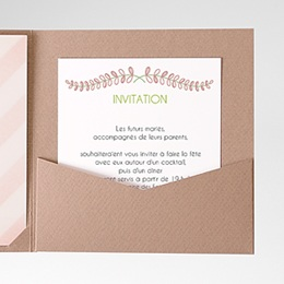 Carte d'invitation Rayures et photos