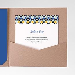 Carte d'invitation Bleu Orient