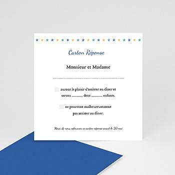 Cartons réponse Expression bleue à personnaliser