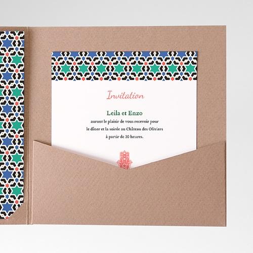 Carte d'invitation Oriental Style