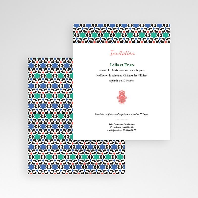 Carte d'invitation Oriental Style gratuit