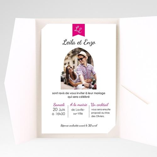Faire Part Mariage Pochette rectangulaire - Ambiance d'Orient 38698 thumb