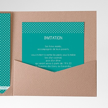 Achat carte d'invitation petits pas