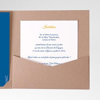Carte d'invitation soleil sur mesure
