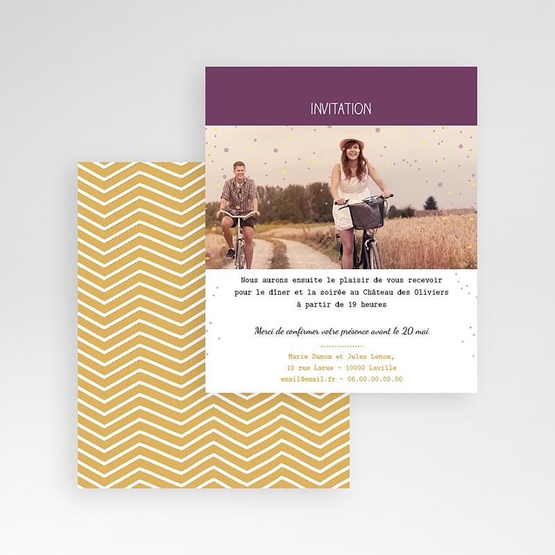 Carte d'invitation Photo et confettis gratuit