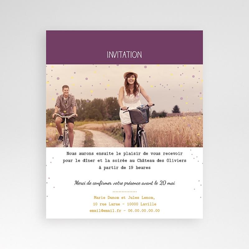 Carte d'invitation Photo et confettis