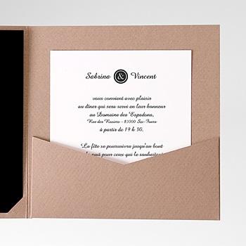 Achat carte d'invitation elégant