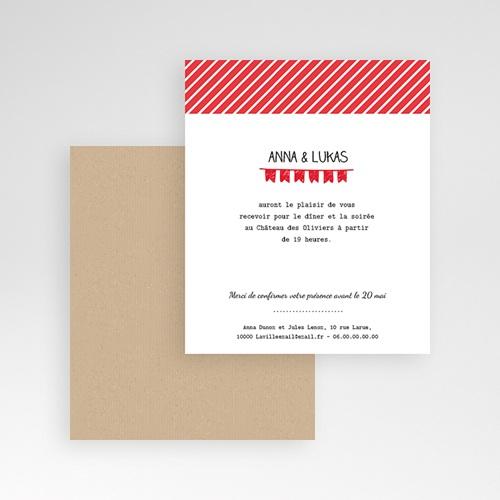 Carte d'invitation Pop Corn gratuit