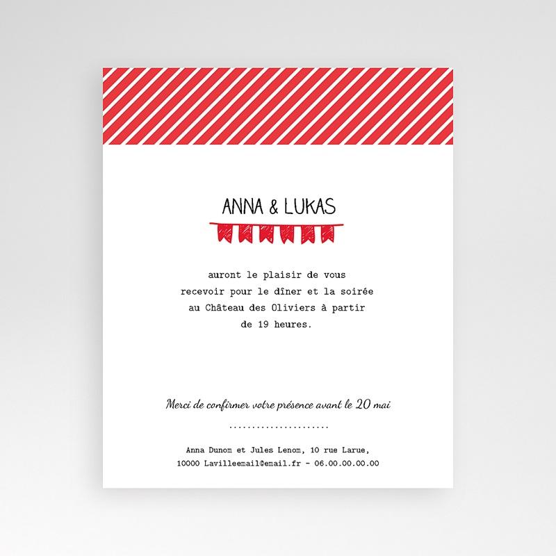 Carte d'invitation Pop Corn