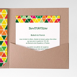 Carte d'invitation Tropical