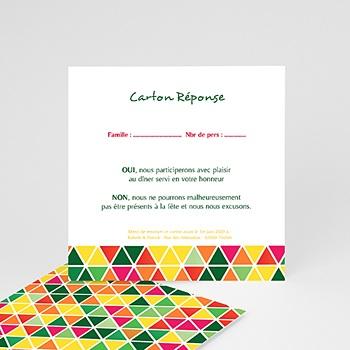 Cartons réponse tropical personnalisable