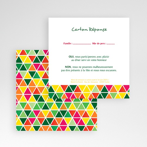 Cartons réponse Tropical gratuit