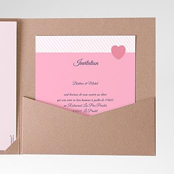 Carte d'invitation Rose bonbon personnalisable