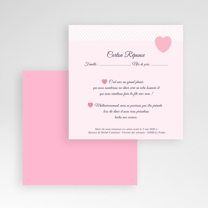 Cartons réponse Rose bonbon gratuit
