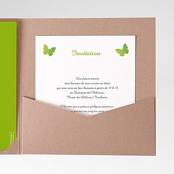 Carte d'invitation papillon pop