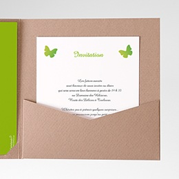Carte d'invitation Papillon Pop