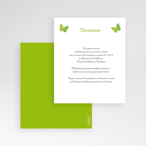 Carte d'invitation Papillon Pop gratuit