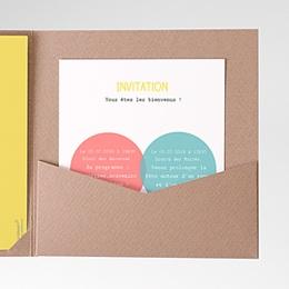 Carte d'invitation Couleurs Complémentaires