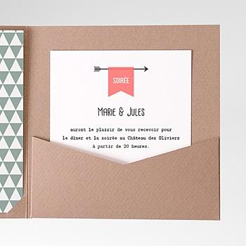 Carte d'invitation Flêche de Cupidon personnalisable