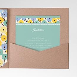 Carte d'invitation Jolies Fleurs