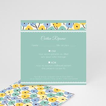 Créer soi même cartons réponse jolies fleurs