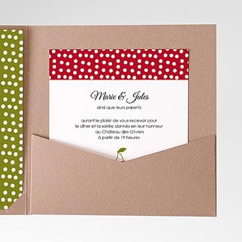 Carte d'invitation le temps des cerises pas cher