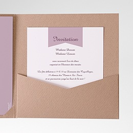 Carte d'invitation Violettes